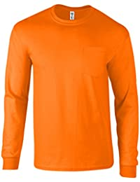 "<span class=""a-offscreen"">[Sponsored]</span>Men's Long Sleeve Pocket T Shirt Ringspun Cotton Made in USA"