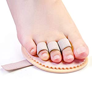 Welnove Toe Straightener Hammer Toes Corrector Pack of 2 (3 Holes) for Claw Toe Mallet Toe Contracted Toe and Cured Toe Hammer Toe Splint 20