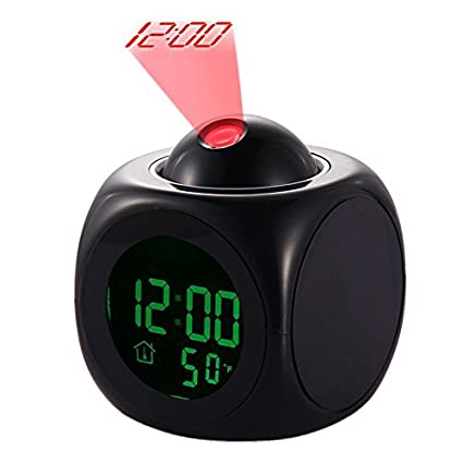 LED Despertador de Proyección Pantalla Digital de Temperatura Multifunción Projector Alarm Clock Multi-function Digital Temperature Sonido Projection ...