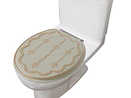 Heavy Duty Toilet Seat.Heavy Duty Comfort Decorative Round Toilet Seat 17 Inch Made Of 100 Polyresin Embassy Beige