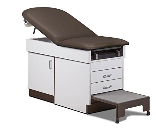 MSEC by Clinton, Family Practice Exam Table with Integrated Step Stool - Gun Metal, 72