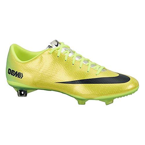 Black Mercurial Yellow Vibrant Shoes Metallic Lime Nike Training Silver Vapor Football Men's aqwS87