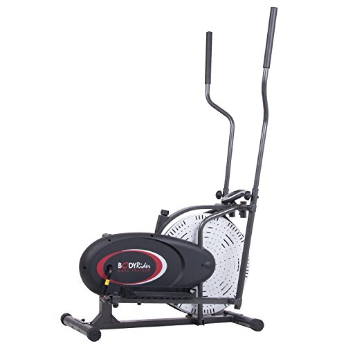 Body Rider Fan Elliptical Trainer with Air Resistance System, Black/Red/Silver