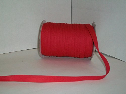 Red Double Fold Bias Tape 50 Yds. 1/2 Inch