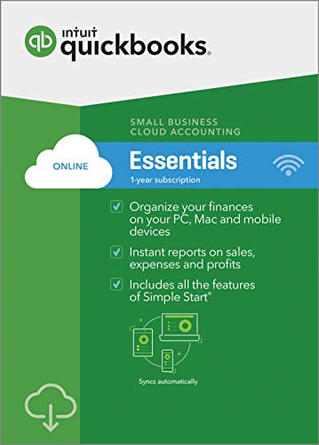 (QuickBooks Online Essentials 2019, 1 Year Subscription [PC/Mac Online Code] [PC Download])