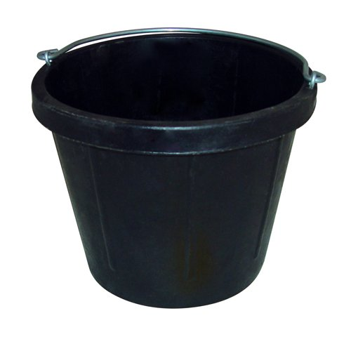 Fortex N200-10 Heavy Duty Rubber Pail without Lip, (Lip Mop)