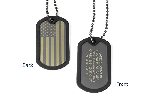 Road ID Custom Dog Tags for Men or Women - the FIXX ID - USA Dog Tag