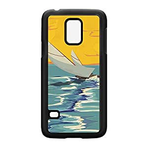 Sailing Black Hard Plastic Case Snap-On Protective Back Cover for Samsung? Galaxy S5 Mini by Nick Greenaway + FREE Crystal Clear Screen Protector