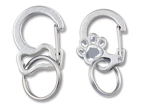 Quick-Tag Rubit Dog Bone Tag Clip Rubit Crystal Paw Tag Clip