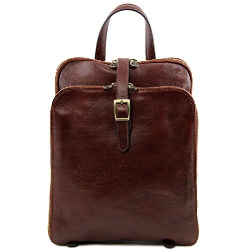 Tuscany Leather Borsa A Spalla Donna Marrone Compact