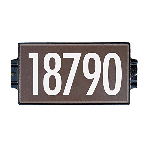 Chocolate Address Plaque 5 by Craftsman House Numbers