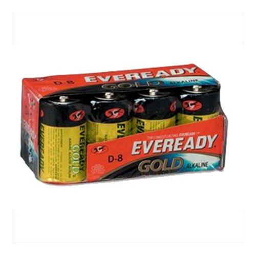 EVEREADY Gold Alkaline Batteries, D, 8/pack (Case of 6)