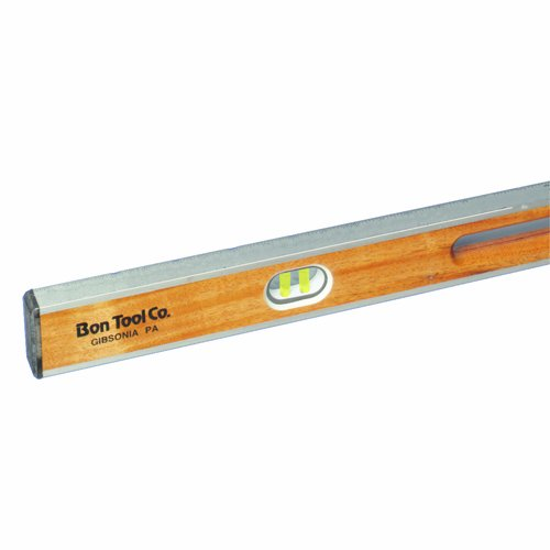 Bon 11-647 48-Inch Aluminum I Beam Level with Hand Holes, Yellow Vials
