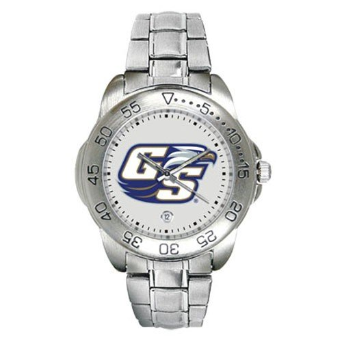 SunTime Georgia Southern Eagles Sport Steel Band Men's Watch ()