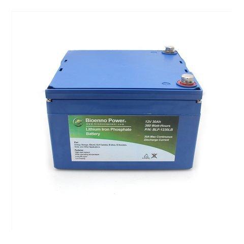 Bioenno Power 12V, 30Ah LFP Battery (ABS, BLF-1230LB)