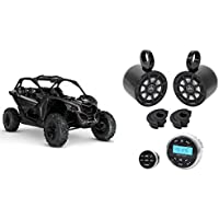 2) Kicker 6.5 240w Tower Speakers+Bluetooth Receiver+Remote For Can-Am Maverick
