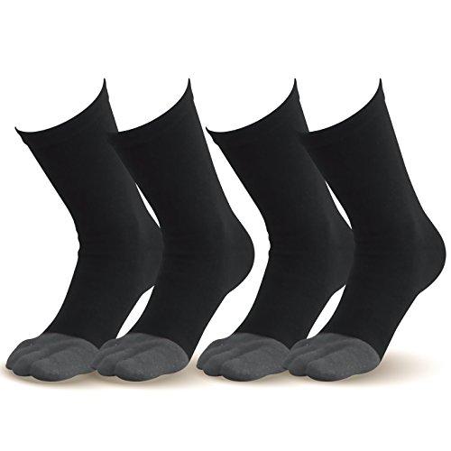 【指先まであったか靴下(紳士用)】25.0-28.0cm お得な グレー2足組  温かい 暖かい 遠赤外線加工 セラミック 伸びる ゴルフ アウトドア 登山 雪山 ウォーキング ランニング 外反母趾対策 健康 5本指ソックス
