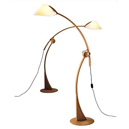 Justice Design Wood Floor Lamp - 1