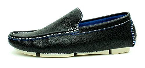 Unisex Mocasines Sin Cordones Informal Mocasines Zapatos De Conducción Cómodo Moda Suela Tallas Negro
