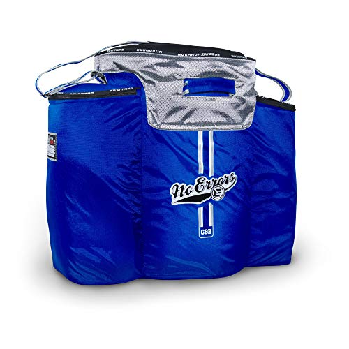 No Errors Ball Buddy Baseball Coaches Bag - Heavy Duty Baseball Equipment Bag for Coaches with Built-in Cooler - Holds 6 Gallon Bucket of Balls and Coaching Equipment (Royal Blue)