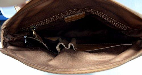Brown leather shoulder bag mens satchel women messenger leather ... f75417d7f514c