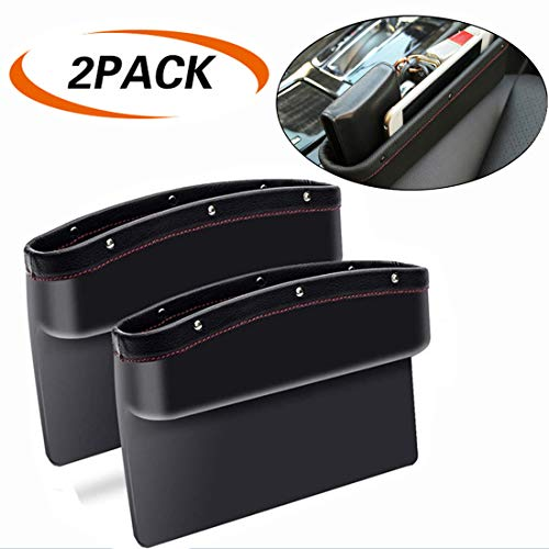 ifory Car Seat Gap Filler and Organizer, Drop Car Caddy Catcher Crevice Storage Box for Cellphone/Wallet/Coin/Key/Card, Universal Fit with Non-Slip - Caddy File