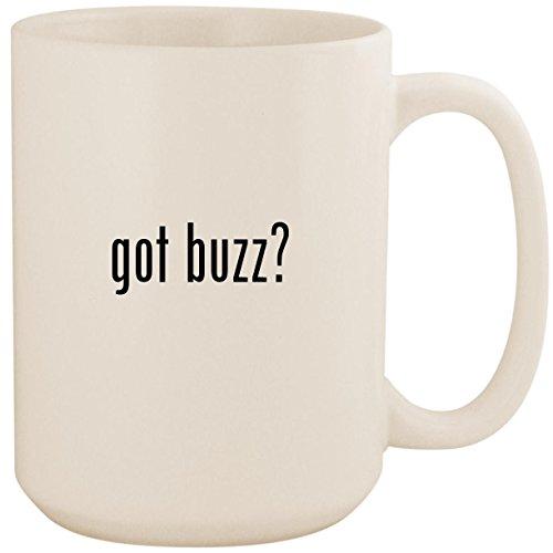 got buzz? - White 15oz Ceramic Coffee Mug Cup (Gi Joe Buzz Aldrin)
