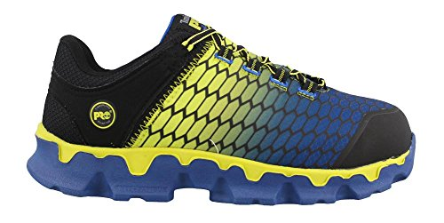 Timberland PRO Men's Powertrain Sport Alloy Toe SD+ Industrial & Construction Shoe, Black Synthetic/Yellow/Blue, 10.5 M US ()