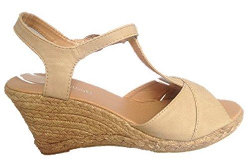 Sandales Beige fashionfolie Talon Chaussure Escarpins Sexy Femmes 290 Compensées 110 5nxOzpn