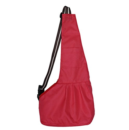 Prettysell Pet Dog Puppy Cat Carrier Bag Oxford Cloth Sling Single Shoulder Bag-Large,Red Review