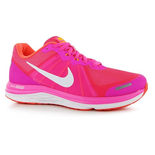 Nike Dual Fusion X Zapatillas de running para mujer rosa/blanco Run Fitness zapatillas zapatillas, rosa y blanco, (UK5) (EU38.5) (US7.5)