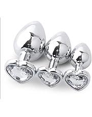 3 Different Size Ànâles Beads Pl'ugs Trainer Kit Stainless Steel Bùtt Pl'ùgs Trainer Kit Yoga Sports Set for Women/Men Beginners QA