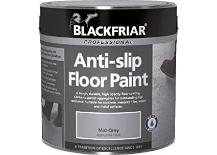 Blackfriar Anti Slip Floor and Step Safety Paint Mid Grey - 1 Litre BF2040002