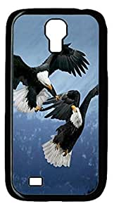 Samsung Galaxy S4 I9500 Case and Cover -Two Eagles Animal PC case Cover for Samsung Galaxy S4 I9500-Black