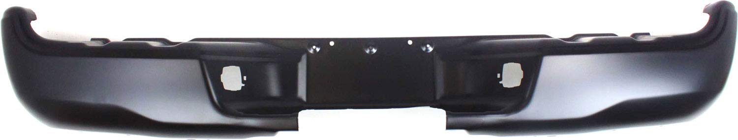 Step Bumper Compatible with 2005-2015 Toyota Tacoma Powdercoated Black Steel Fleetside