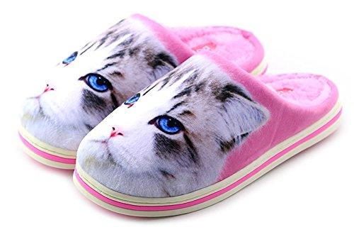 Slipper Thick Pattern Funny Cute Winter Warm Cartoon Unisex Kitty Animal 08xpxn