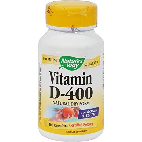 Nature's Way Vitamin D-400 - 400 IU - 100 Capsules/ Certified Potency ()