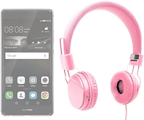 DURAGADGET Auriculares De Diadema En Rosa para Smartphone Huawei P9 / P9 Plus / P9 Lite: Amazon.es: Electrónica