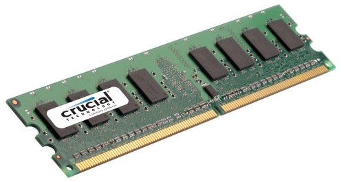 Crucial Technology CT12864AA53E 1GB 240-Pin PC2-4200 533Mhz DIMM DDR2 RAM (Pc2 4200 Cl4 240 Pin)