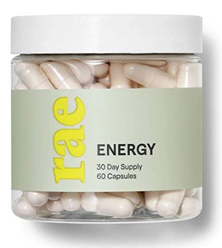 Rae Energy Supplements 60 Capsules! Blend of B Vitamins, Thiamine and Green Tea! Revive and Invigorate Without The Crash! Provides Sustainable Source of Energy! Gluten-Free, Vegan and Non-GMO!