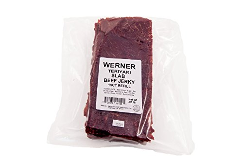 Werner Beef Jerky Slabs (Teriyaki, Giant Slab - 15ct)