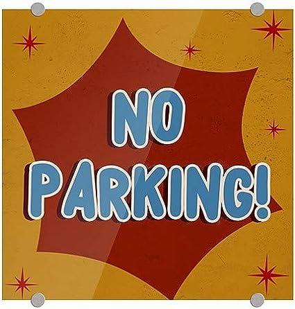5-Pack No Parking 16x16 Nostalgia Burst Premium Acrylic Sign CGSignLab