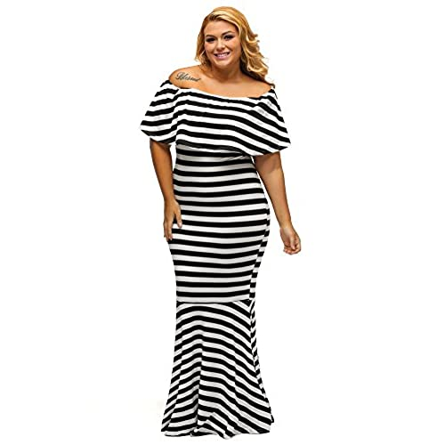 Off The Shoulders White Plus Size Dress Amazon