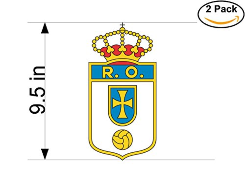 fan products of Real Oviedo CF Spain Soccer Football Club FC 2 Stickers Car Bumper Window Sticker Decal Huge 9.5 inches