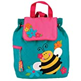 Stephen Joseph Quilted Backpack, Teal Bee