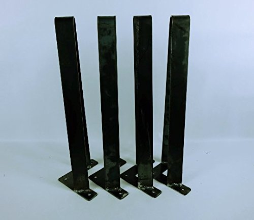 Flat Bar Hairpin Legs 1-1/2'' Set of 4, 30'' Metal Table Legs Steel Table Legs Console Table Metal Coffee Table Legs by DIY METAL LEGS