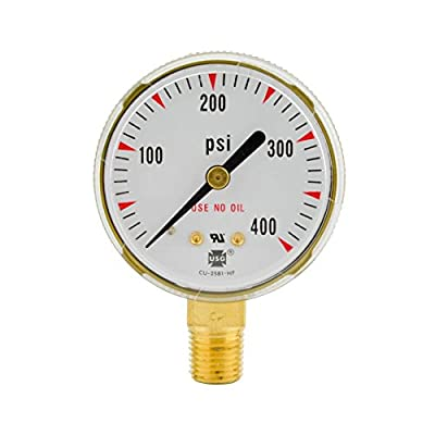 "2-1/2"" x 400 PSI Welding Regulator Repair Replacement Gauge For Acetylene 2.5 in"