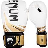Venum Challenger 3.0 Boxing Gloves - White/Black-Gold - 12oz, White/Black/Gold, 12 oz