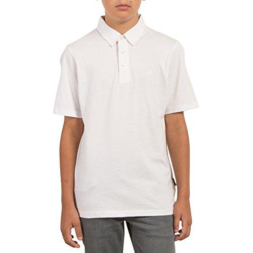 Volcom X Large Wowzer Modern Fit Cotton Polo, White, Big Boys