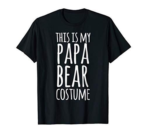 Mens Funny Easy Lazy Halloween PAPA BEAR Costume